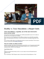 Healthy vs. Toxic Masculinity a Simple Guide