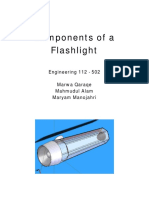 Components of A Flashlight