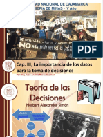 Cap. III, La Importancia de Los Datos Para La Toma de Decisiones