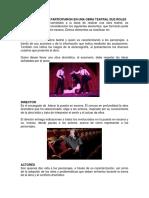 Personajes Que Participaron en Una Obra Teatral Sus Role1
