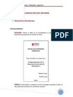 Modelo de Informe Mate III