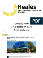 Scientific News 1st of October 2019