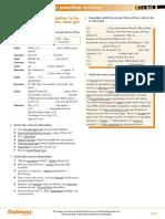 Gateway A1+ Teacher's Resources UNIT 1 Extra Grammar Practice Revision