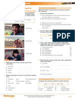 Gateway A1+ Teacher's Resources UNIT 1 Flipped classroom video worksheet