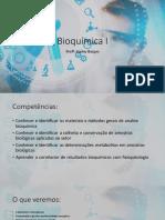 Bioquimica I Aula1