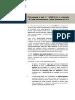 Artigo Lei Geral de Proteção de Dados Pessoais LGPD