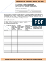 Marzo - Instrumentos de Evaluación