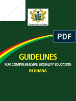 GUIDELINES FOR COMPREHENSIVE SEXUAL EDUCATION IN GHANA