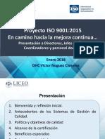 5 LUPG Proyecto ISO 9001 Presentación 04-Ene-2018