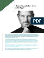 Mengungkap Tuntas Kisah Sukses Steve Jobs