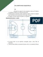 Reglamento Del Basquetball