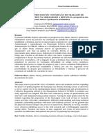 Aspectos Do Processo de Construção Do Trabalho De Conclusão de Curso na na Modalidade a Distância