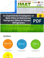 An Experimental Investigation on Mass Effect of Hydrocarbon Refrigerant (600a) on Household Refrigerators