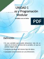Vectores y Programcion Modular