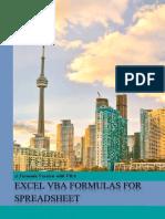 Excel VBA Formula Spreadsheet