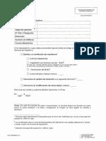 Solicitud Certificado de Residencia.cambio Domicilio. Modificación Datos