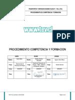 Procedimiento Competencia y Formacion ( HALLAZGOS 4.4.2)