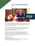 DISOLUCIÓN DEL CONGRESO DEL PERU