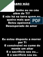 ABRO MÃO