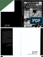 Libro Indicadores de Calidad y Productividad en La Empresa