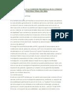 Cuestion Previa y La Cuestion Prejudicial en El Còdigo Procesal Penal Del 2004