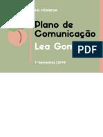Plano de Comunicação - Lea Gomes (Agência Pêssega)