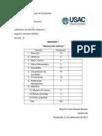 Reporte 1 Orgánica 1 USAC