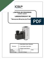 Laboratorio 08 Sensores Binarios de Presión