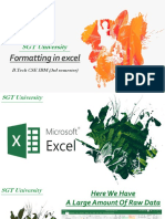 Formatting in Excel