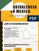BIOEQUIVALENCIA EN MEXICO