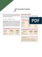 Sistema Métrico e Constantes de conversão