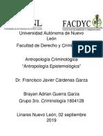 Evidencia Del Equipo 1.1- Antropología Criminologica - (Antropología Epistemologica)