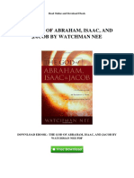 The God of Abraham Isaac and Jacob by Watchman Nee