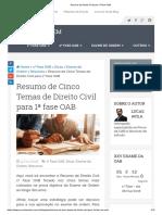 Resumo de Direito Civil Para 1ª Fase OAB