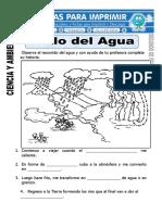 Ficha de Ciclo Del Agua Para Segundo de Primaria