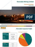 Riversdale Mining Sep 2010 Investor Presentation