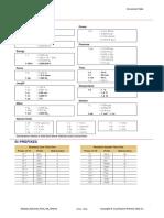 Engineering Conversion Sheet