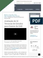 Avaliação de 10 Técnicas de Estudos Para Exame Da OAB