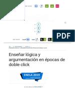 Enseñar Lógica y Argumentación en Épocas de Doble Click