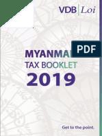 Myanmar Tax Booklet 2019