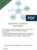 1.1.3 La Ergonomia y Las Disciplinas Relacionadas