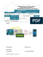 Hoja de Datos Ultrasonico