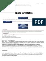 Lógica Matemática - Universidad Del Norte