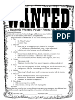 Bacteria Wanted Poster