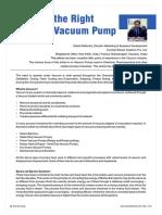 VAcuum Systems Comparision