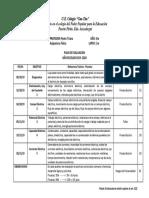Plan de Evaluacion 5to