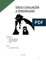 Consistencia y Evaluación de La Personalidad
