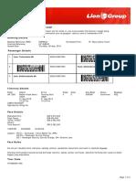 Lion Air ETicket (HMWNCZ) - Laia