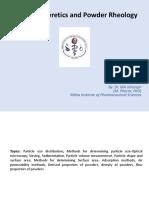 Micromeretics and powder rheology