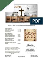 Church Bulletin Templates 07